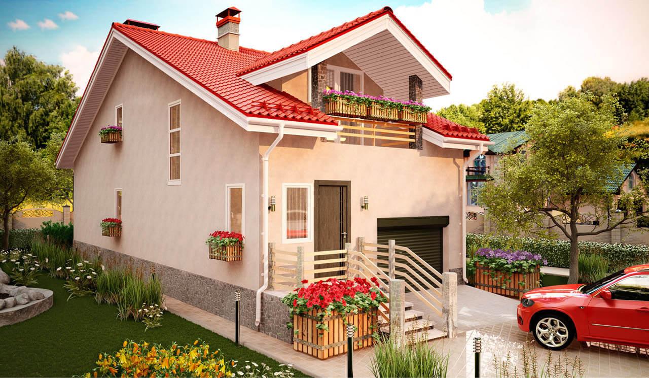 Фото проекта кирпичного дома